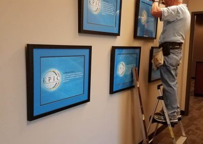Bluegrass Frames installation